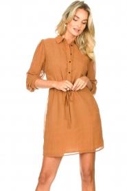 Freebird |  Printed dress with drawstring Bridget | brown  | Picture 5
