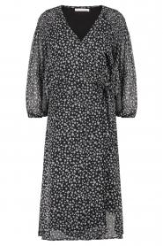 Freebird |  Printed midi wrap dress Hela | blue  | Picture 1