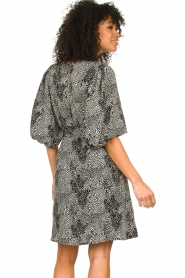 Freebird |  Dotted dress with puff sleeves Anou | black  | Picture 5