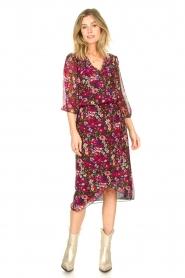 Freebird |  Floral midi skirt Zwaan | black  | Picture 3