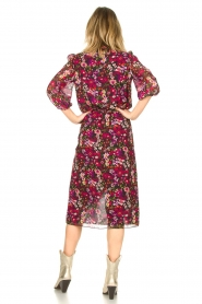 Freebird |  Floral midi skirt Zwaan | black  | Picture 5