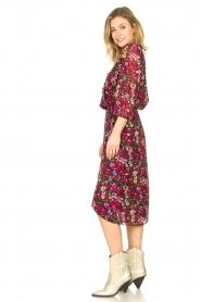 Freebird |  Floral midi skirt Zwaan | black  | Picture 4