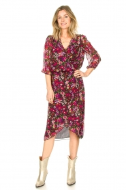 Freebird |  Floral midi skirt Zwaan | black  | Picture 2