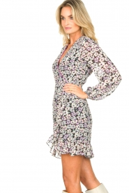 Freebird |  Wrap dress with puff sleeves Rosy | multi  | Picture 6