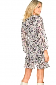 Freebird |  Wrap dress with puff sleeves Rosy | multi  | Picture 7