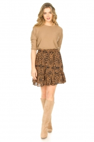 Freebird |  Skirt in leaf print Luus | orange  | Picture 4