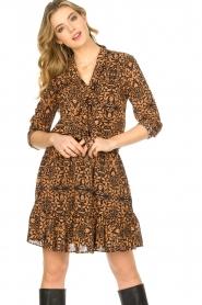 Freebird    Skirt in leaf print Luus   orange    Picture 3