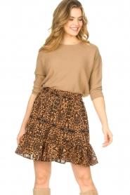 Freebird    Skirt in leaf print Luus   orange    Picture 2