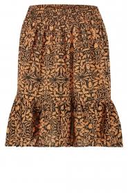 Freebird    Skirt in leaf print Luus   orange    Picture 1