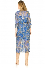 Freebird |  Midi dress with belt Harper | purple  | Picture 5
