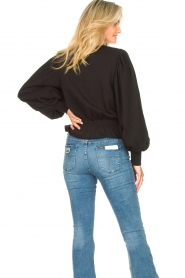 Freebird |  Sweater with balloon sleeves Viccy | black  | Picture 7