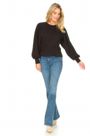 Freebird |  Sweater with balloon sleeves Viccy | black  | Picture 3