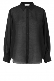 Second Female |  Blouse with puff sleeves Tinley | black  | Picture 1
