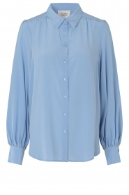 Second Female |  Silk blouse with puff sleeves Thorin | blue  | Picture 1