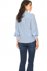 Second Female |  Silk blouse with puff sleeves Thorin | blue  | Picture 6