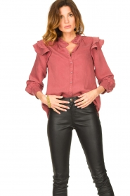 Second Female |  Ruffle blouse Bella | pink  | Picture 4