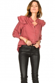 Second Female |  Ruffle blouse Bella | pink  | Picture 5