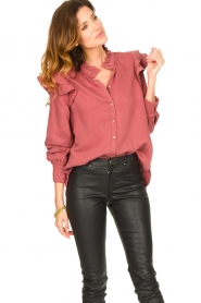 Second Female |  Ruffle blouse Bella | pink  | Picture 2