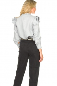 Second Female | Ruches blouse Bella | blauw   | Afbeelding 9