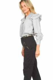 Second Female | Ruches blouse Bella | blauw   | Afbeelding 8