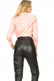 Second Female |  Stretch blouse with puff sleeves Marlene | pink  | Picture 6