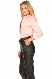 Second Female |  Stretch blouse with puff sleeves Marlene | pink  | Picture 5