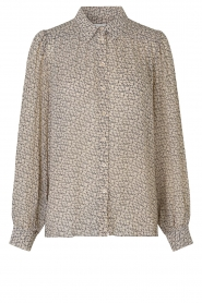 Second Female |  Printed blouse Lacing | beige  | Picture 1