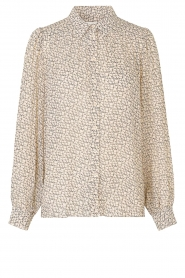 Second Female    Printed blouse Lacing   beige    Picture 1