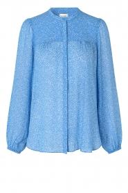 Second Female | Blouse met print Mano | blauw   | Afbeelding 1