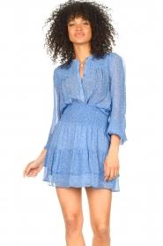 Second Female | Blouse met print Mano | blauw   | Afbeelding 2