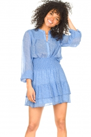 Second Female | Blouse met print Mano | blauw   | Afbeelding 4