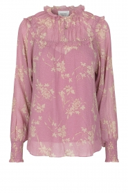 Second Female |  Floral smocked blouse Mories | pink  | Picture 1