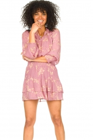 Second Female    Floral smocked blouse Mories   pink    Picture 4