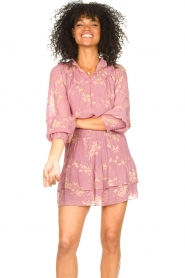 Second Female    Floral smocked blouse Mories   pink    Picture 5