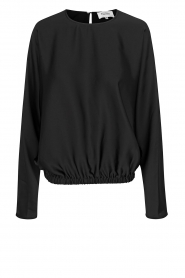 Second Female |  Blouse with elastic hem Barbi | blackwith elastic   | Picture 1