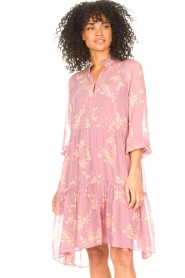 Second Female :  Floral dress Mories | pink - img5