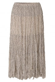 Second Female |  print midi skirt Lacing | beige  | Picture 1