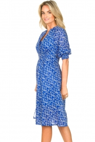 Second Female |  Print midi dress Dayla | blue  | Picture 6