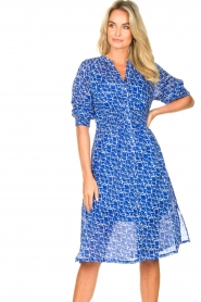 Second Female |  Print midi dress Dayla | blue  | Picture 5