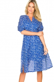 Second Female |  Print midi dress Dayla | blue  | Picture 4