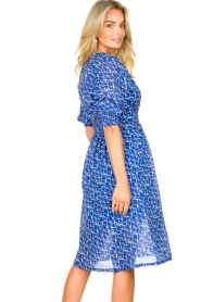 Second Female |  Print midi dress Dayla | blue  | Picture 7