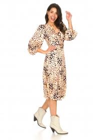 Second Female |  Midi wrap dress Amur | beige  | Picture 3