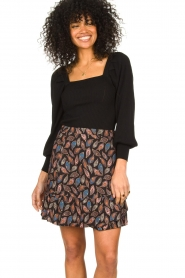 Second Female |  Knitted sweater with balloon sleeves Bess | black  | Picture 2
