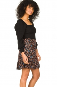 Second Female |  Knitted sweater with balloon sleeves Bess | black  | Picture 3