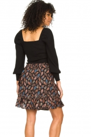 Second Female |  Knitted sweater with balloon sleeves Bess | black  | Picture 5