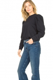 Second Female |  Sweater with puff sleeves Oriana | blue   | Picture 5