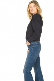 Second Female |  Sweater with puff sleeves Oriana | blue   | Picture 6