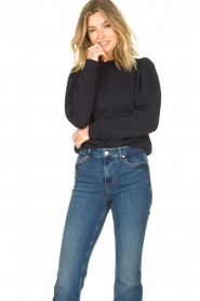 Second Female |  Sweater with puff sleeves Oriana | blue   | Picture 2