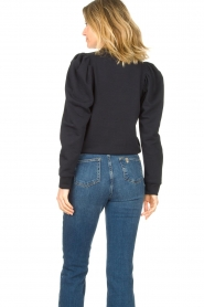 Second Female |  Sweater with puff sleeves Oriana | blue   | Picture 7