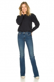 Second Female |  Sweater with puff sleeves Oriana | blue   | Picture 3